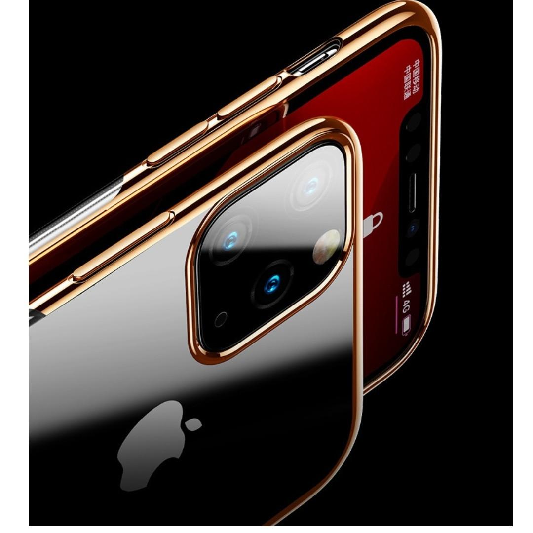 iPhone 11 / iPhone 11 Pro Max Shell Plated Border Phone Case