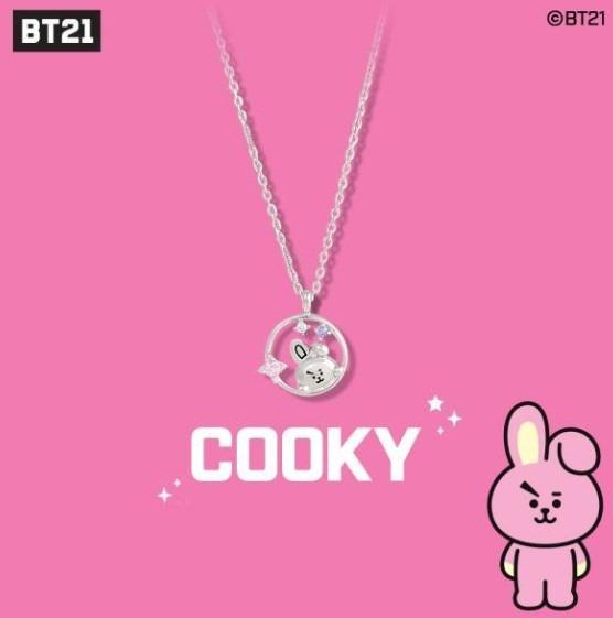 [PREORDER] BT21 BTS OST SILVER NECKLACE (WITH STONE)