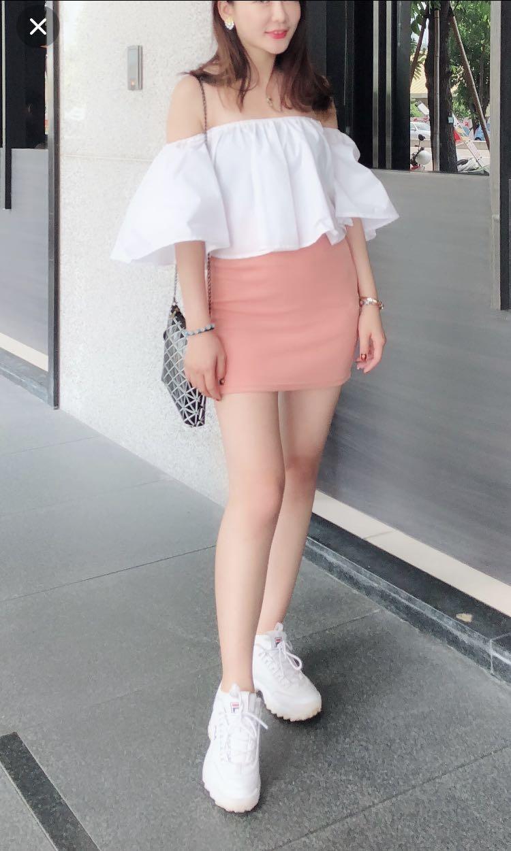 粉色短裙M
