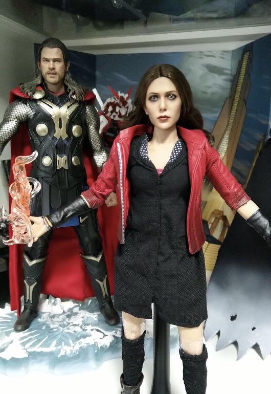 Age of Ultron For 1//6 Scale Action Figures Scarlet Witch Head Sculpt Avengers