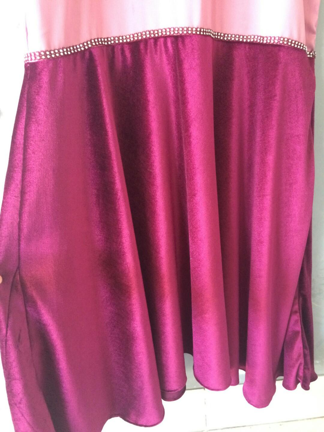 Mermaid dress burgundy mix lavender
