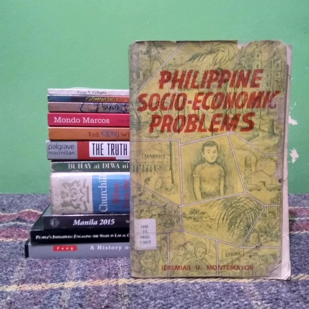 Montemayor, Jeremias U. The Philippine Socio-economic Problems. Manila: Rex Bookstore, 1969. 430 pp.