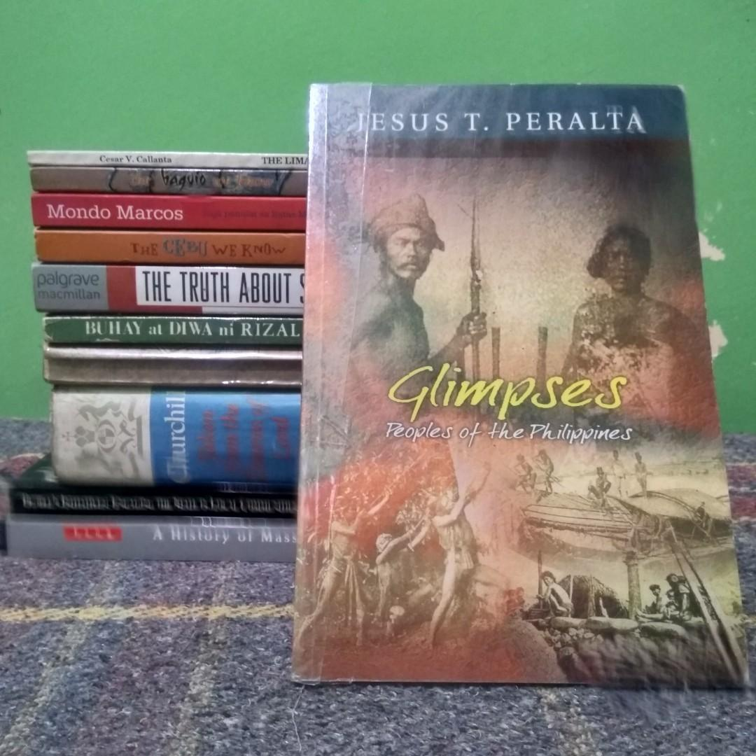 Peralta, Jesus T. Glimpses: Peoples of the Philippines. Pasig: Anvil Publishing, Inc., 2003. 122 pp.
