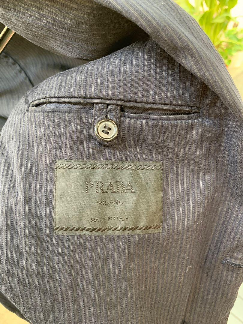 Prada Black Unlined Cotton Blazer (Size 48)