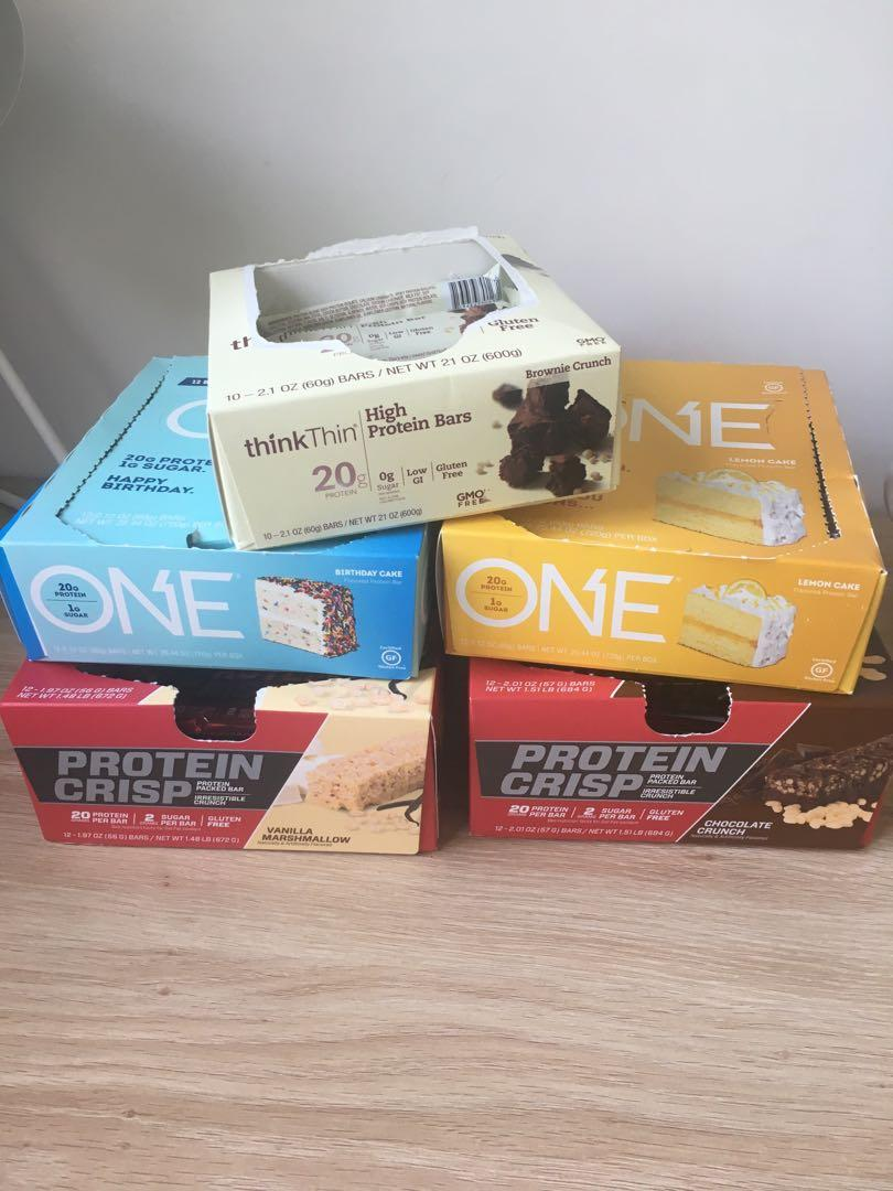 Protein bars x 37