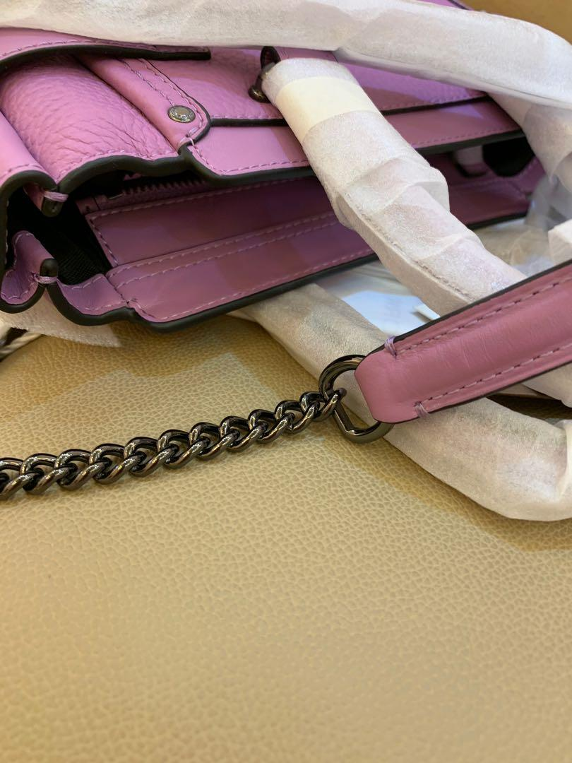 Ready Stock Authentic coach women mini swagger tea rose collection  0919