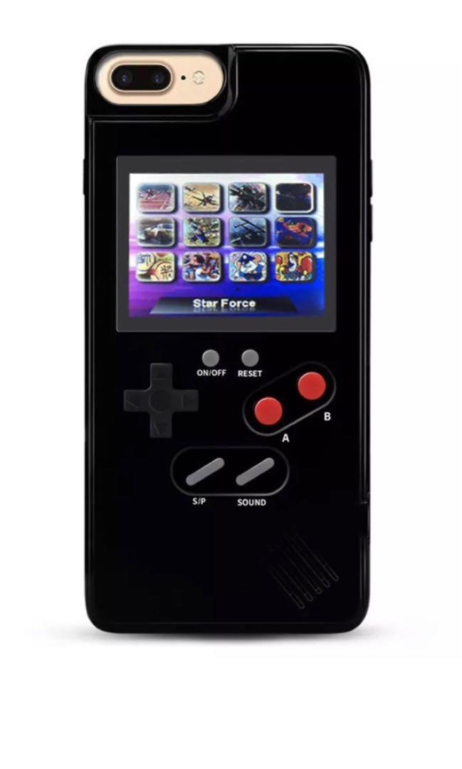 Retro Colour screen gameboy case for Iphone X (black colour)
