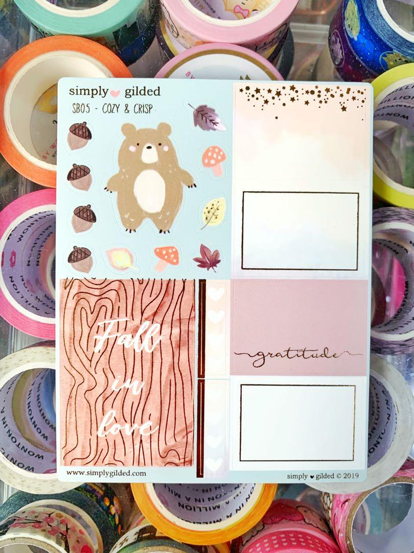 Simply Gilded Cozy & Crisp Luxe Sticker Set of 3