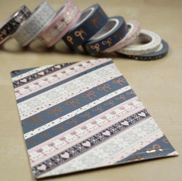 Simply Gilded Northern Comforts & Boba Tea Washi Sample #305
