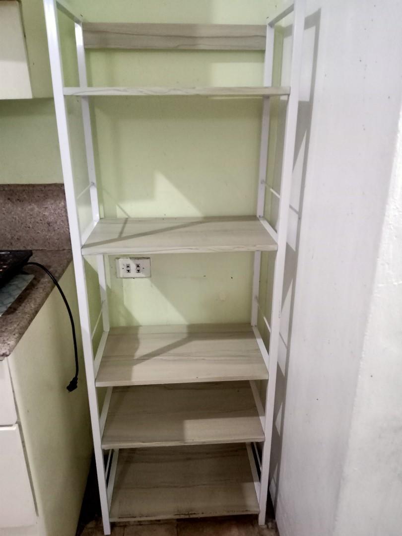 Tall Open Shelves Kitchen