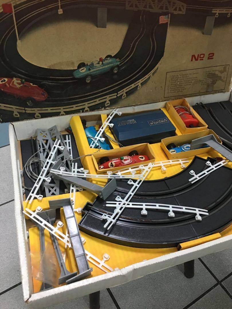 Vintage battery operated slot racing car