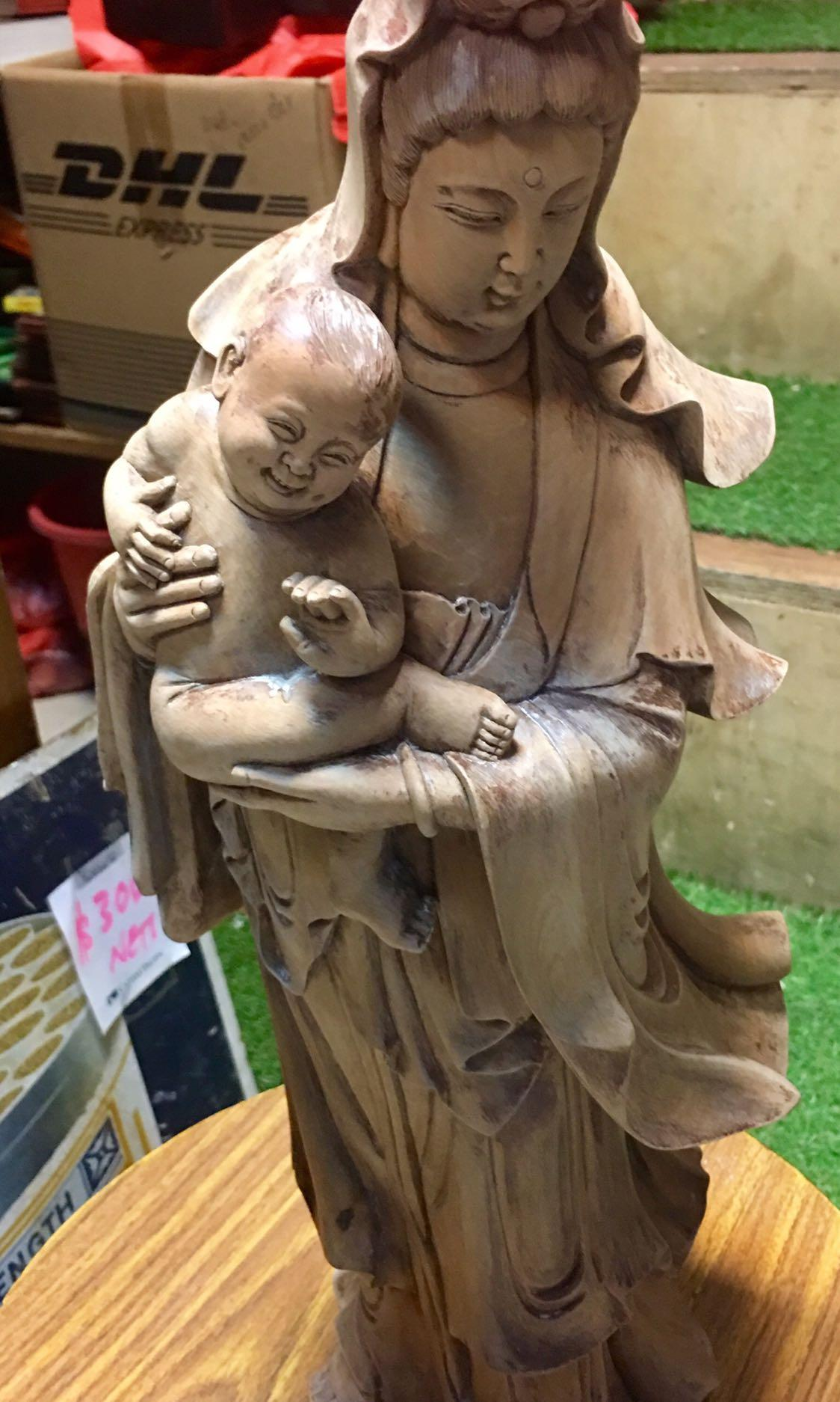 Vintage wood carving Buddha