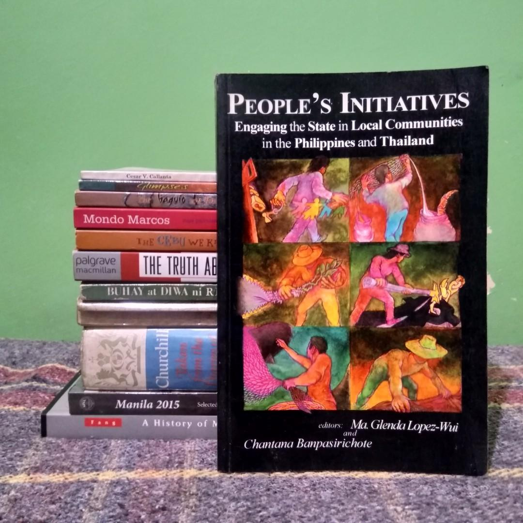 Wui, Ma. Glenda Lopez and Banpasirichote, Chantana. People's Initiatives: Engaging the State in Local Communities in the Philippines and Thailand. Quezon City and Bangkok: Third World Studies Center and Center for Social Development Studies, 2003. 273 pp.