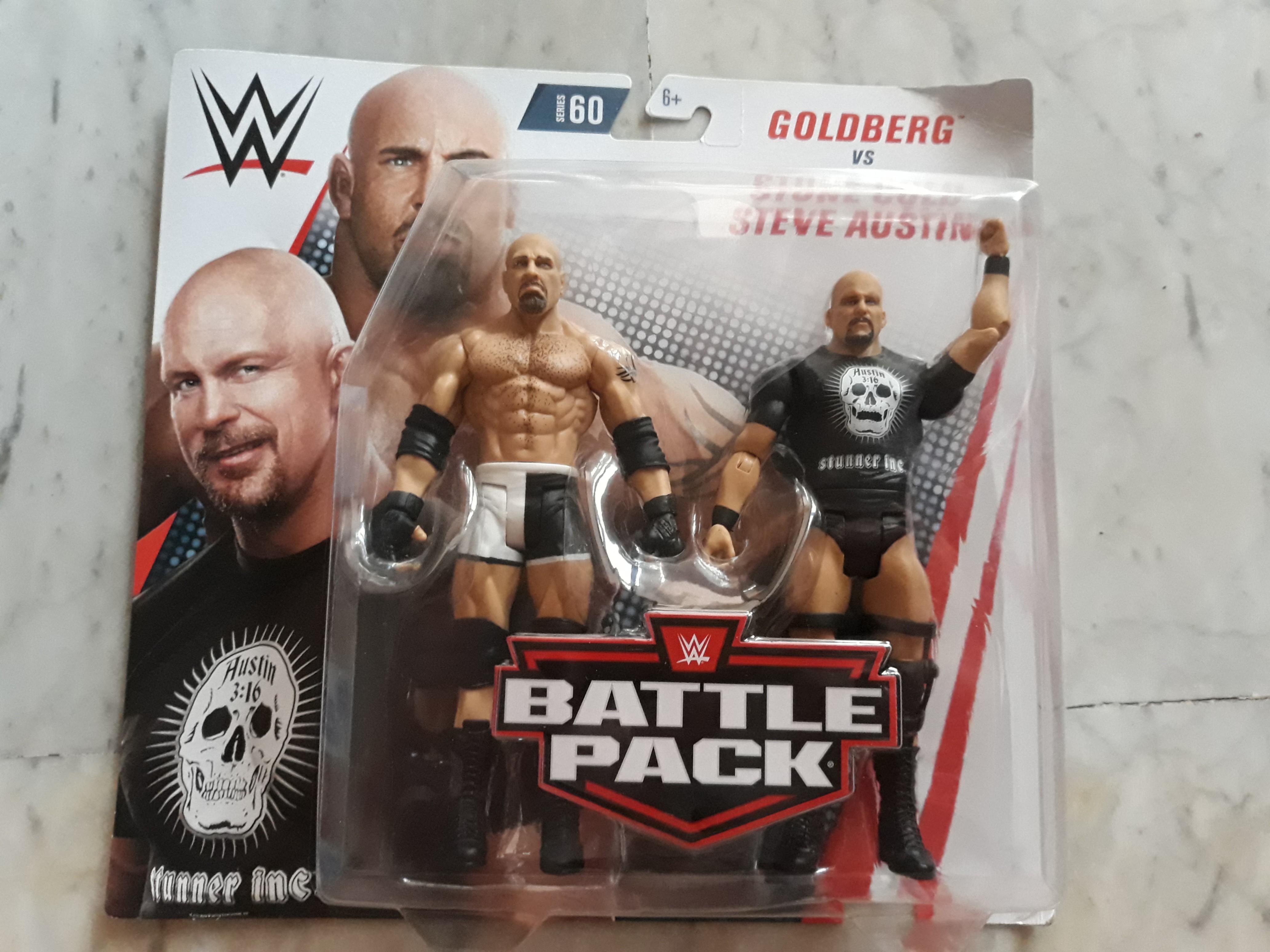 Mattel WWE Battle Pack Goldberg vs Stone Cold Steve Austin ACTION FIGURES