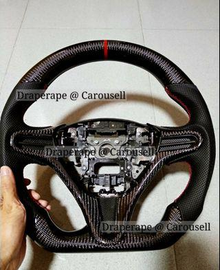 Real Carbon Fiber Steering Wheel - Honda Civic FC / Vezel / Accord / HRV / Civic FD / FD2R / Shuttle / Fit / Jazz / All Honda Models!