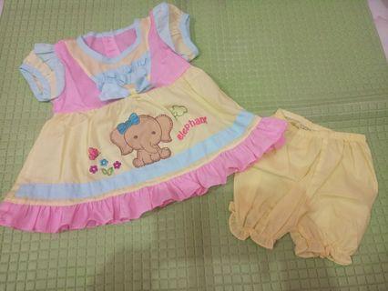 Dress bayi pelangi