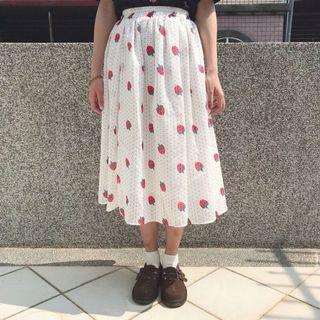 日系草莓點點雪紡裙🍓
