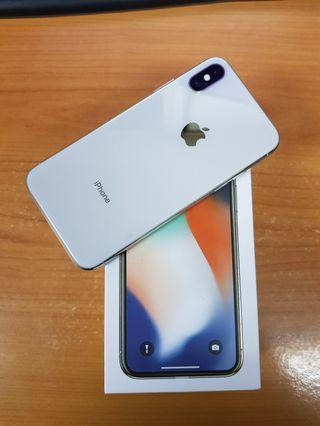 Iphone x 64gb silver fullset