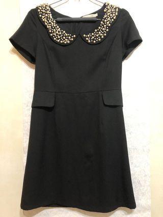 Black by pazzo珍珠領洋裝