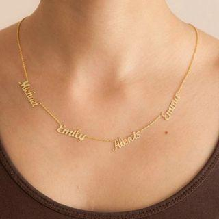 [PREORDER] 🆕🆒 Custom 1-6 Multiple Names Necklace Personalized Stainless Steel Family Numbers Nameplate Pendant Necklace Jewelry Mom Dad Gifts