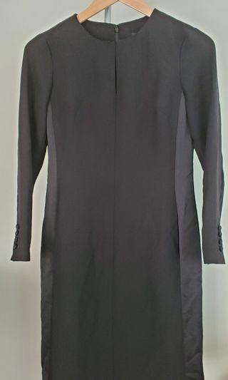 Banana Republic Professional Long Sleeve Black Dress