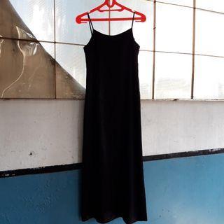 Black Long Dress Hitam Panjang