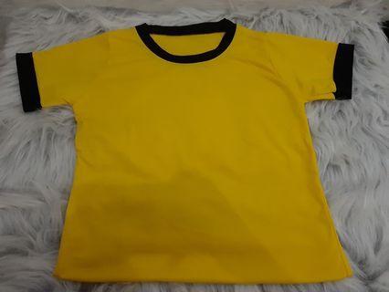 Baju croptee kuning