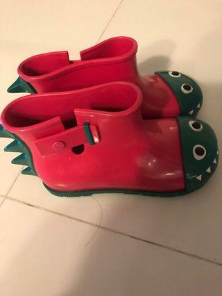 Mini Melissa rain boots 11 USA
