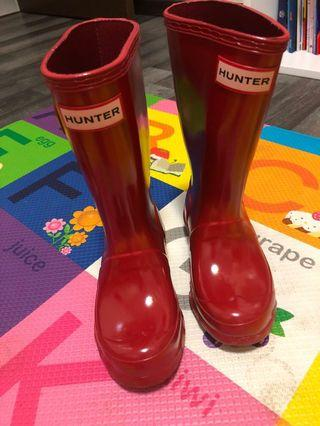 Hunter boots red us11/12