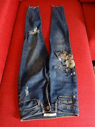 Floral jeans berksha