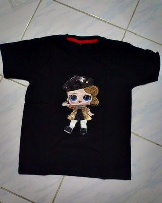 Kaos anak LED LOL Hitam