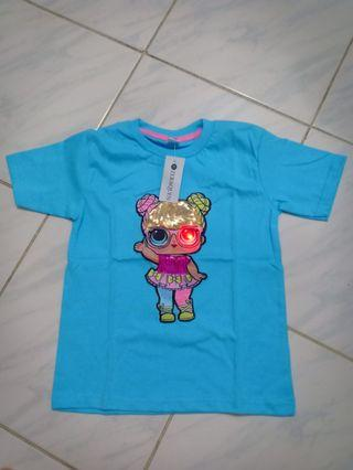 Kaos anak LOL LED Biru Muda