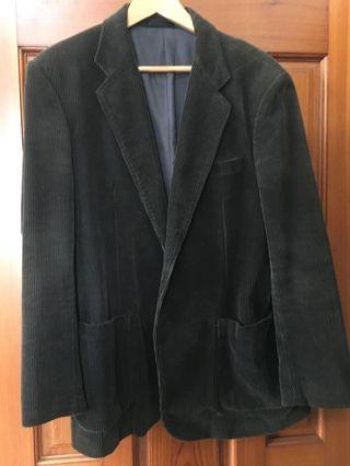 復古燈芯絨西裝外套