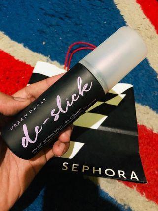Preloved Urban Decay De Slick Oil Control Makeup Setting Spray