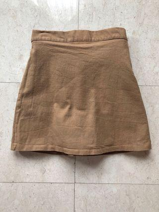 Brown Skirt with inner pants