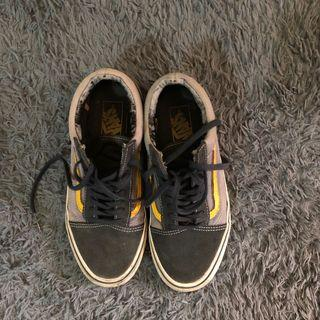 Preloved sepatu Vans old skool 2 tone navy/cytrus shoes original