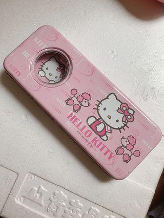 Hello Kitty 粉色雙層鐵製鉛筆盒