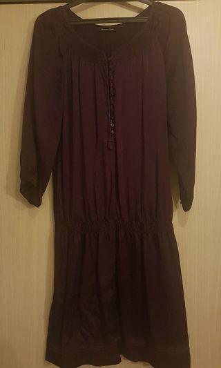 Massimo Dutti Silk Dress (Purple)