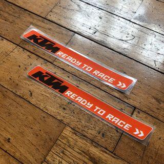 KTM Ready To Race Reflective Stickers