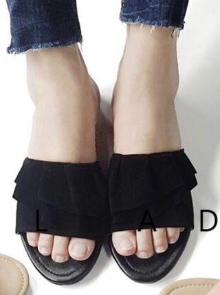 NEW Black Suede Sandal