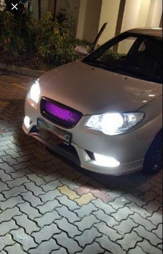 Bright Customised H7 Led Bulb on Hyundai Avante 08 Headlight 880/881 Foglight not hid