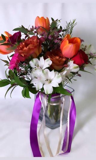 Tulip and Rose Bridal Bouquet
