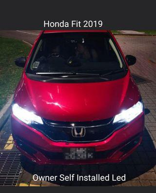 Customised H4 Led or Brightest CSP 3570 Led on Honda Fit 19 Headlight not hid H7