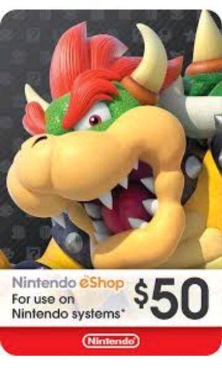 Nintendo Eshop USD50 gift code