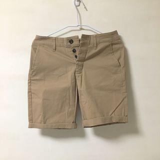 asos slim chino shorts in stone 卡其色合身休閒短褲