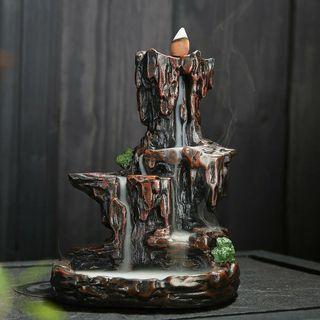 瀑谷幽林 大型高品質倒流香台 送30粒倒流香