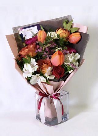 <‼️50% Flash Sale > Tulip and Rose Bouquet