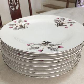 Ceramic Plate Floral Design (9 inch) (Set of 8)