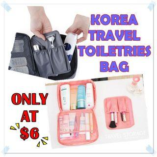 Korea Travel Toiletries Pouch / Cosmetic Pouch / Make up Pouch