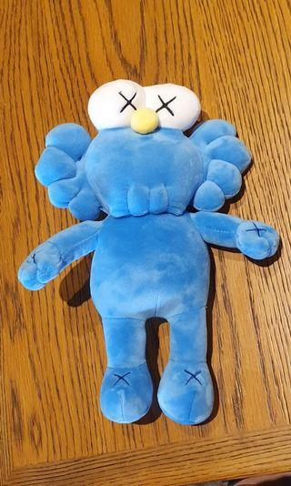 KAWS inspired soft toy blue figurine